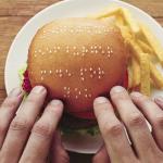 Wimpy : des burgers avec une surface en braille pour les aveugles !