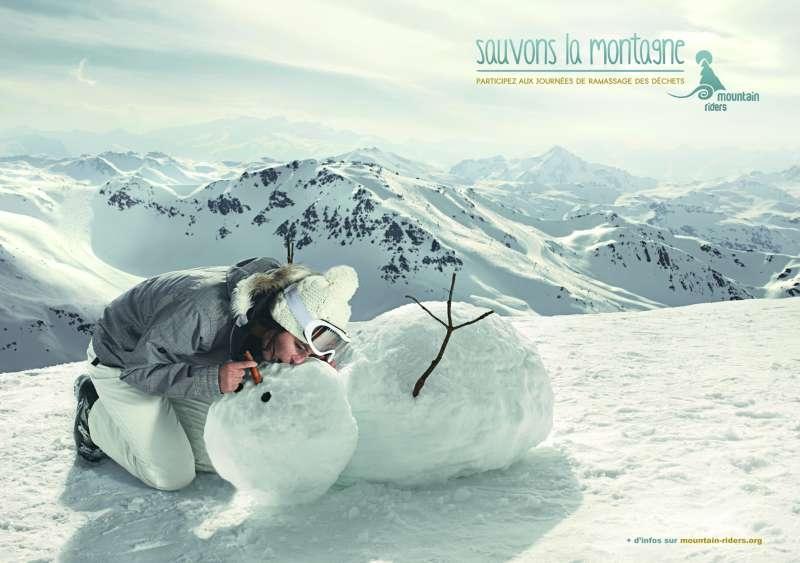 llllitl-mountain-riders-sauvons-la-montagne-publicité-bonhomme-de-neige-agence-marcel-environnement