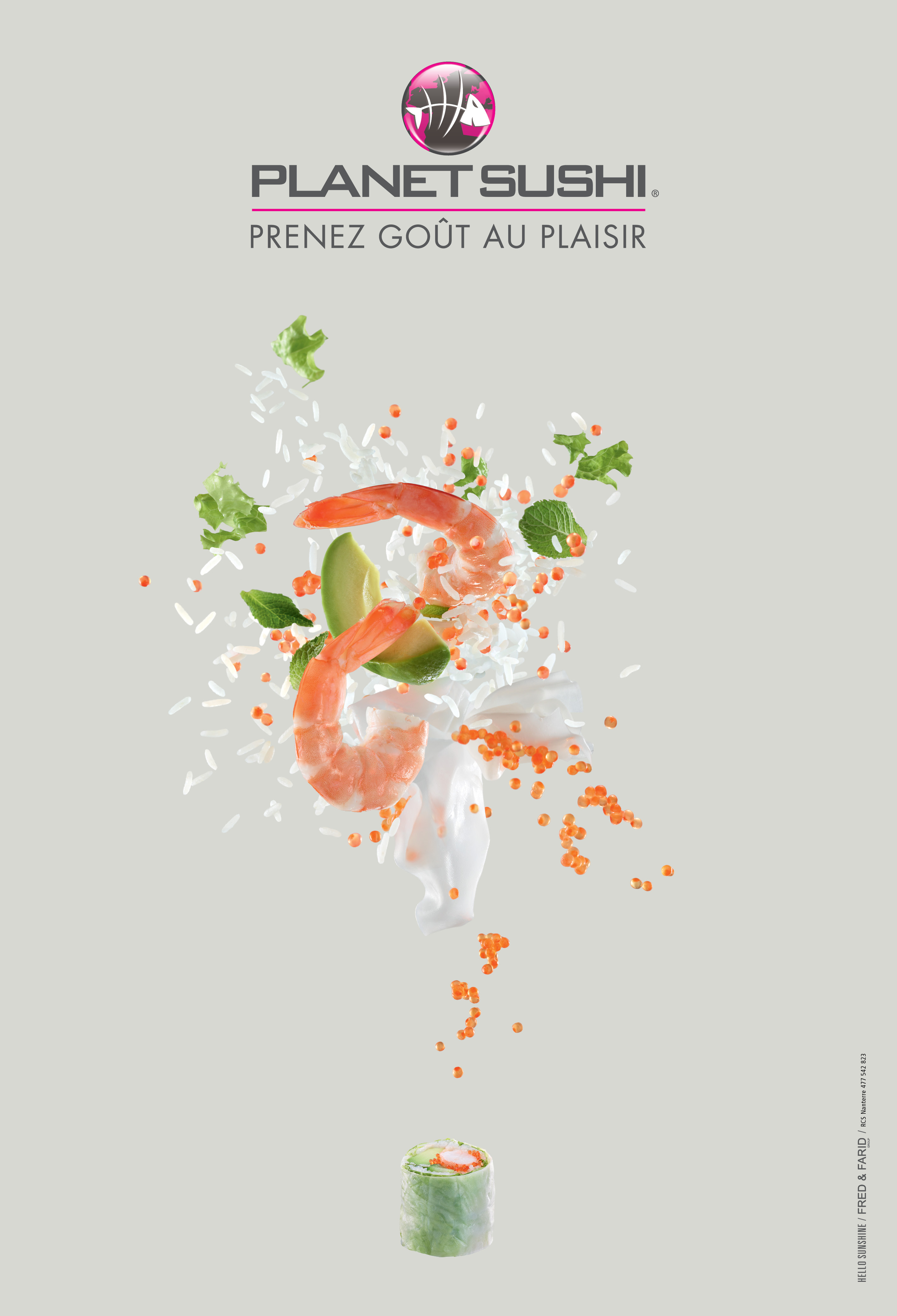 llllitl-planet-sushi-publicité-print-poisson-japonais-chinois-design-alimentaire-hello-sunshine-fred-et-farid