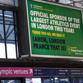 Paddy Power : sponsor du plus grand évènement sportif de London (en France) !
