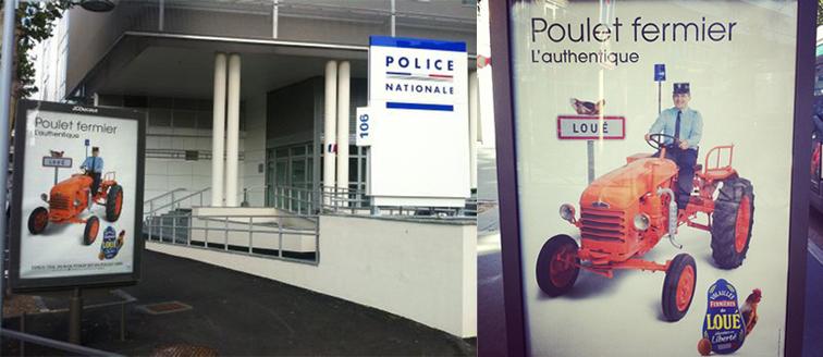 llllitl-poulets-de-loué-publicité-print-affichage-police-policiers-fermier-buzz-clermont-ferrand