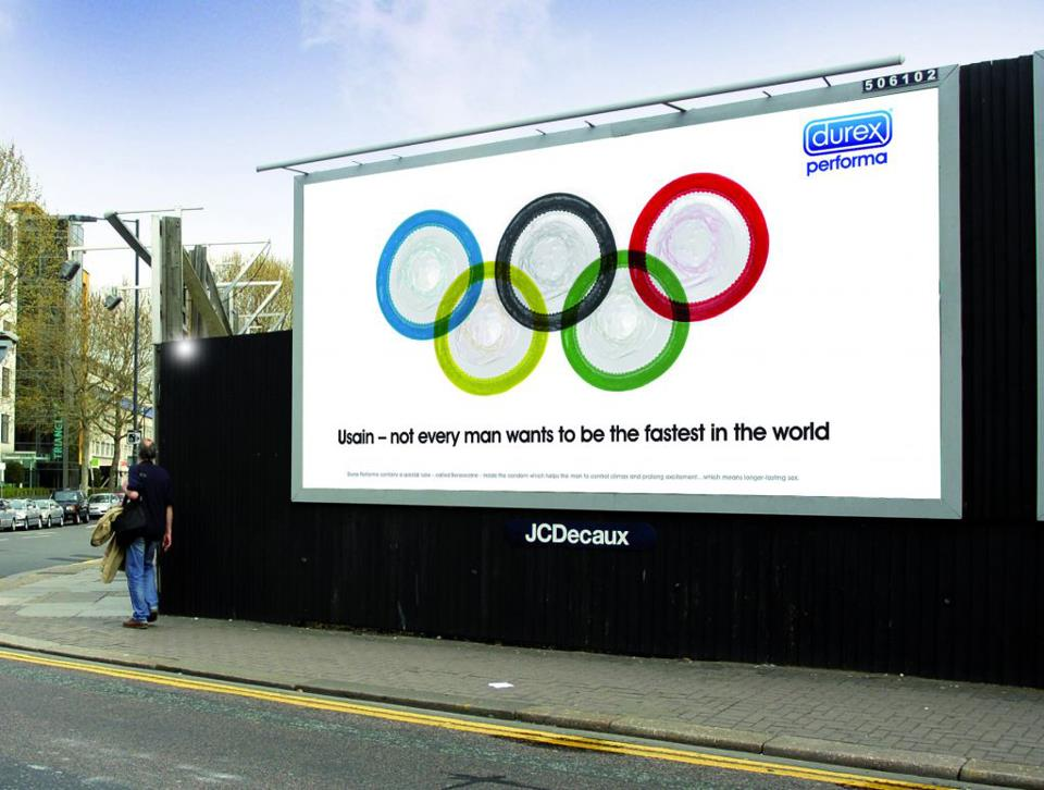 llllitl-durex-publicité-advertising-ad-affichage-print-london-2012)-jeux-olympiques-londres-usain-bolt-plus-rapide-du-monde-fastest-in-the-world-juillet-2012