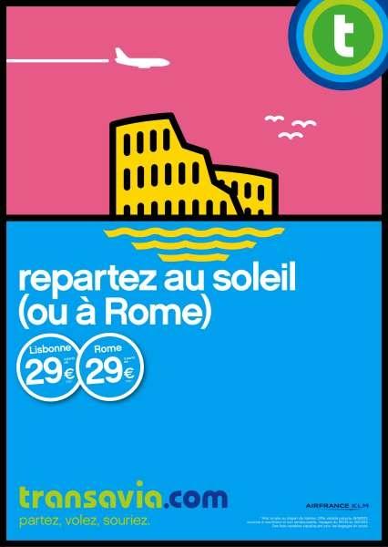 llllitl-transavia-publicité-print-affiche-vol-avion-compagnie-aérienne-airline-advertising-rome-berlin-venise-repartir-au-soleil-agence-h-septembre-2012