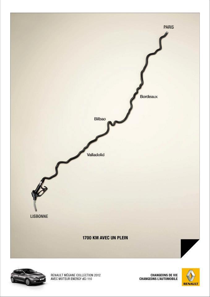 llllitl-renault-publicité-print-advertising-cars-1700km-kilomètres-avec-un-plein-basse-faible-consommation-essence-europe-changeons-de-vie-changeons-l'automobile-agence-publicis-conseil