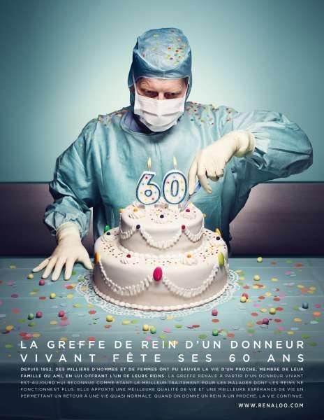 llllitl-association-renaloo-print-publicité-greffe-de-rein-gateau-60-ans-anniversaire-chirurgie-agence-betc