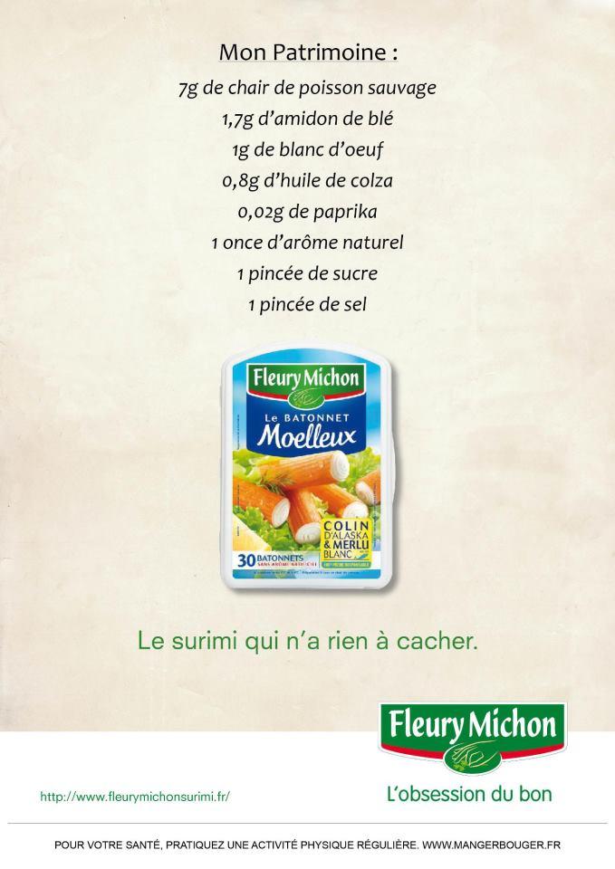 llllitl-fleury-michon-surimi-ingrédients-déclaration-patrimoine-ministres-composition-agence-ddb-paris