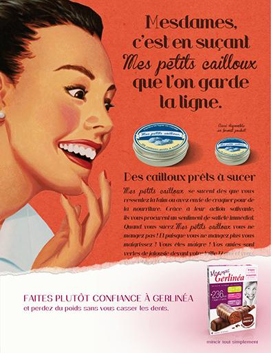 llllitl-gerlinea-mincir-tout-simplement-régime-simple-facile-perdre-du-poids-rapidement-alimentation-publicité-marketing-print-rétro-agence-ddb-paris-3