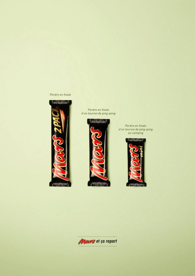 llllitl-mars-publicité-print-advertising-marketing-minimaliste-mars-2-pack-mars-mini-mars-et-ca-repart-agence-clm-bbdo-paris