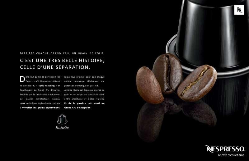 llllitl-print-créatif-publicité-concepteur-rédacteur-nespresso-agence-lowe-strateus-Derrière chaque grand cru, un grain de folie. C'est une très belle histoire, celle d'une séparation. La chute de cette histoire, c'est l'équilibre-2