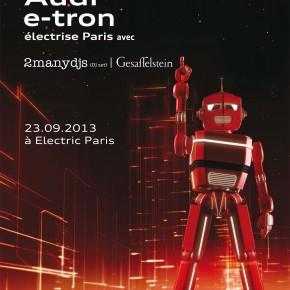 Audi #e_tron : 1 soirée électrique avec 2manyDJs et Gesaffelstein à Paris !