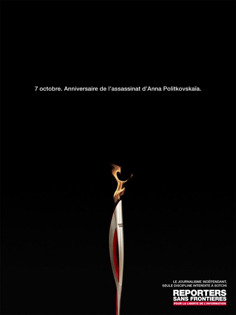 reporters-sans-frontières-sotchi-jeux-olympiques-russie-anna-politkovskaia-journaliste-tuée-anniversaire-bougie-flamme-olympique