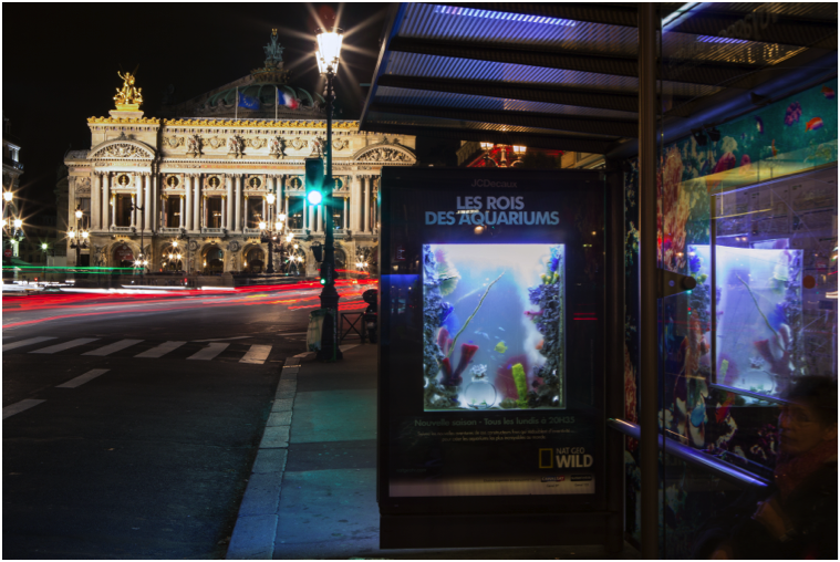 natural-geographic-nat-geo-wild-street-marketing-paris-aquarium-poisson-abribus-agence-ubi-bene