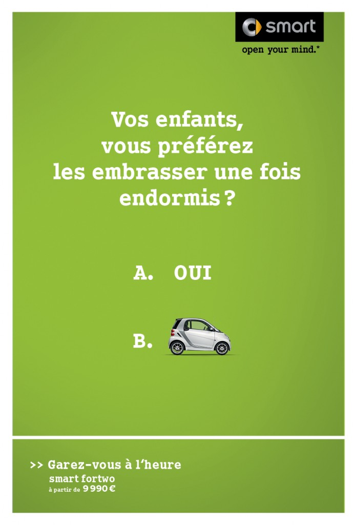 smart-publicité-marketing-affiche-print-garez-vous-à-lheure-question-oui-non-clm-bbdo-1