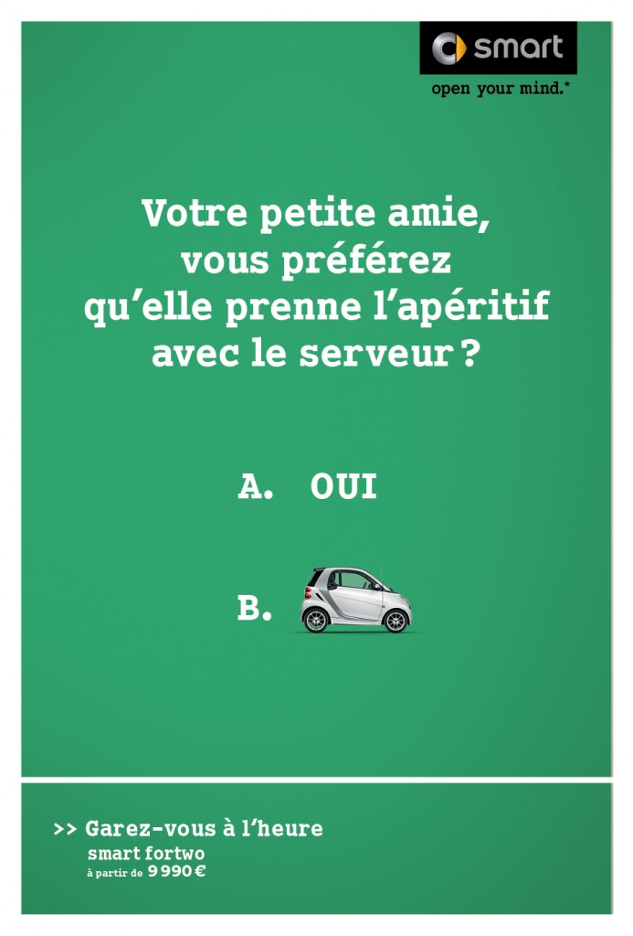 smart-publicité-marketing-affiche-print-garez-vous-à-lheure-question-oui-non-clm-bbdo-3