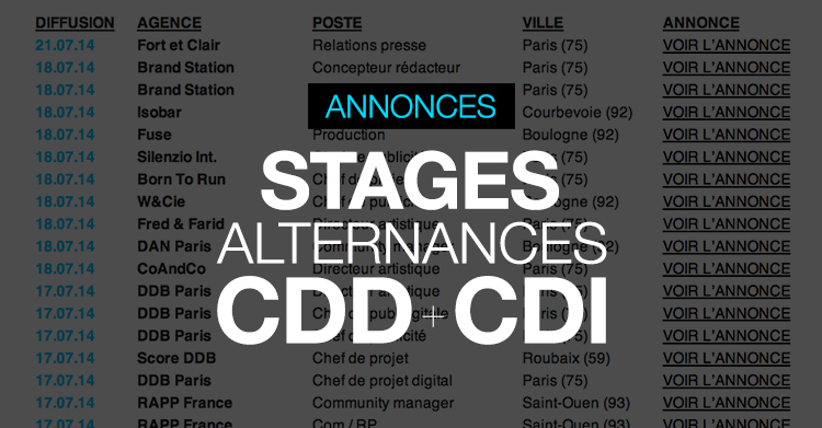 annonces-offres-emploi-stages-cdd-cdi-alternances-freelances-apprentissages-agence-de-publicite-marketing-communication