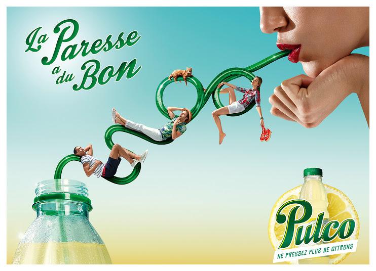pulco-publicité-marketing-print-été-2014-la-paresse-a-du-bon-ne-pressez-plus-de-citrons-fraicheur-paille-agence-fred-farid-1