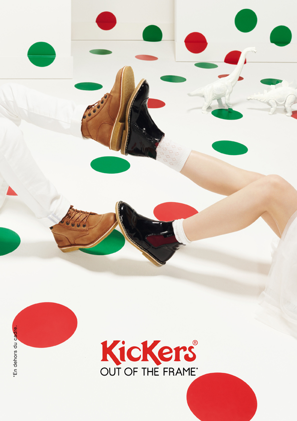 kickers-publicité-marketing-affiches-prints-rouge-vert-chaussures-homme-femme-enfant-out-of-the-frame-agence-la-chose-paris-3