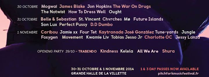 pitchfork-music-festival-paris-2014-programmation-line-up-artistes-djs
