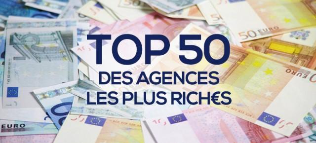 Top 50 des agences de publicité françaises les plus riches (2014)