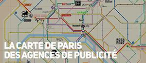 La carte de Paris des agences de publicité