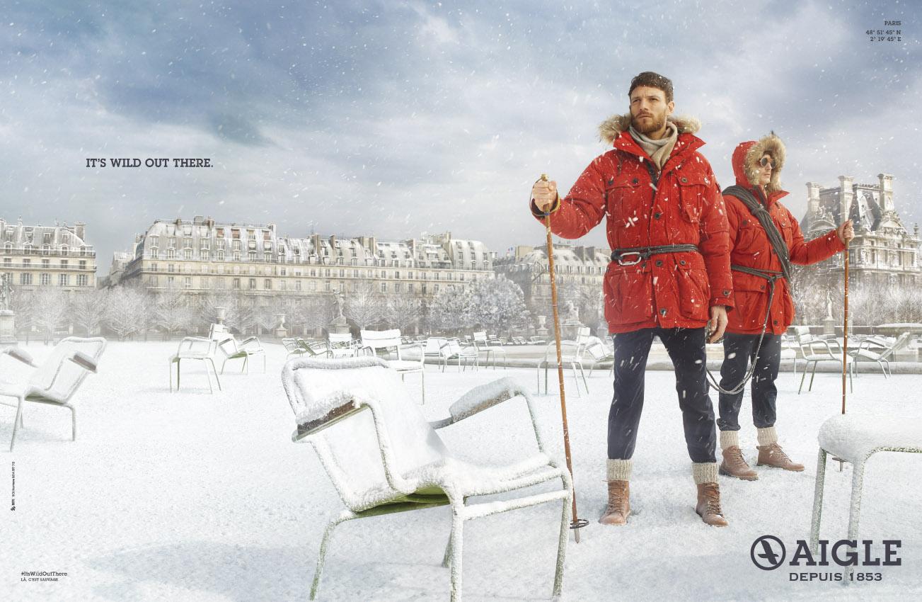 aigle-publicité-marketing-neige-paris-print-parka-expédition-raquettes-betc-1