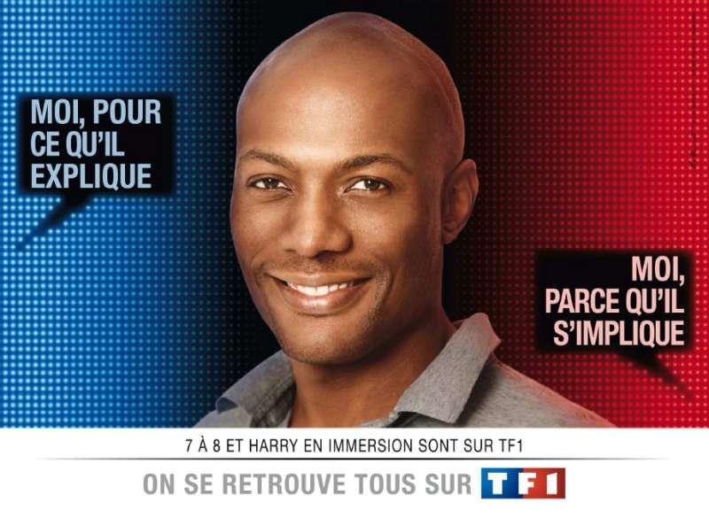 llllitl-TF1-publicité-télévision-On se retrouve tous sur TF1-Les bleus et les rouges- février 2012-harry-roselmack