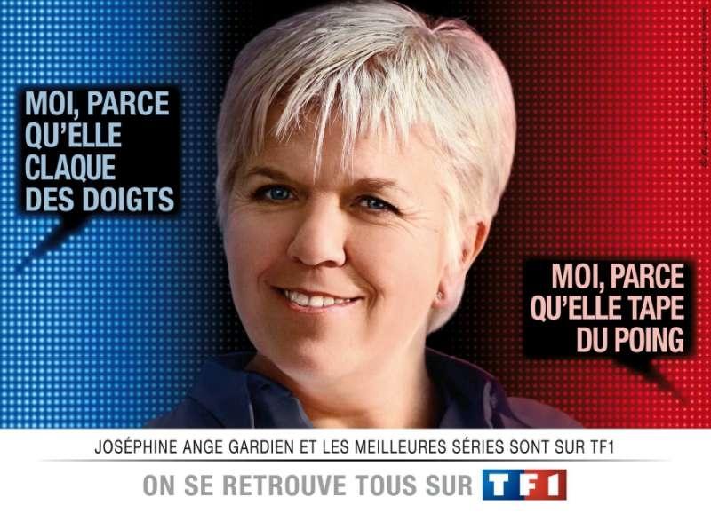 llllitl-TF1-publicité-télévision-On se retrouve tous sur TF1-Les bleus et les rouges- février 2012-mimi-mathy-joséphine-ange-gardien