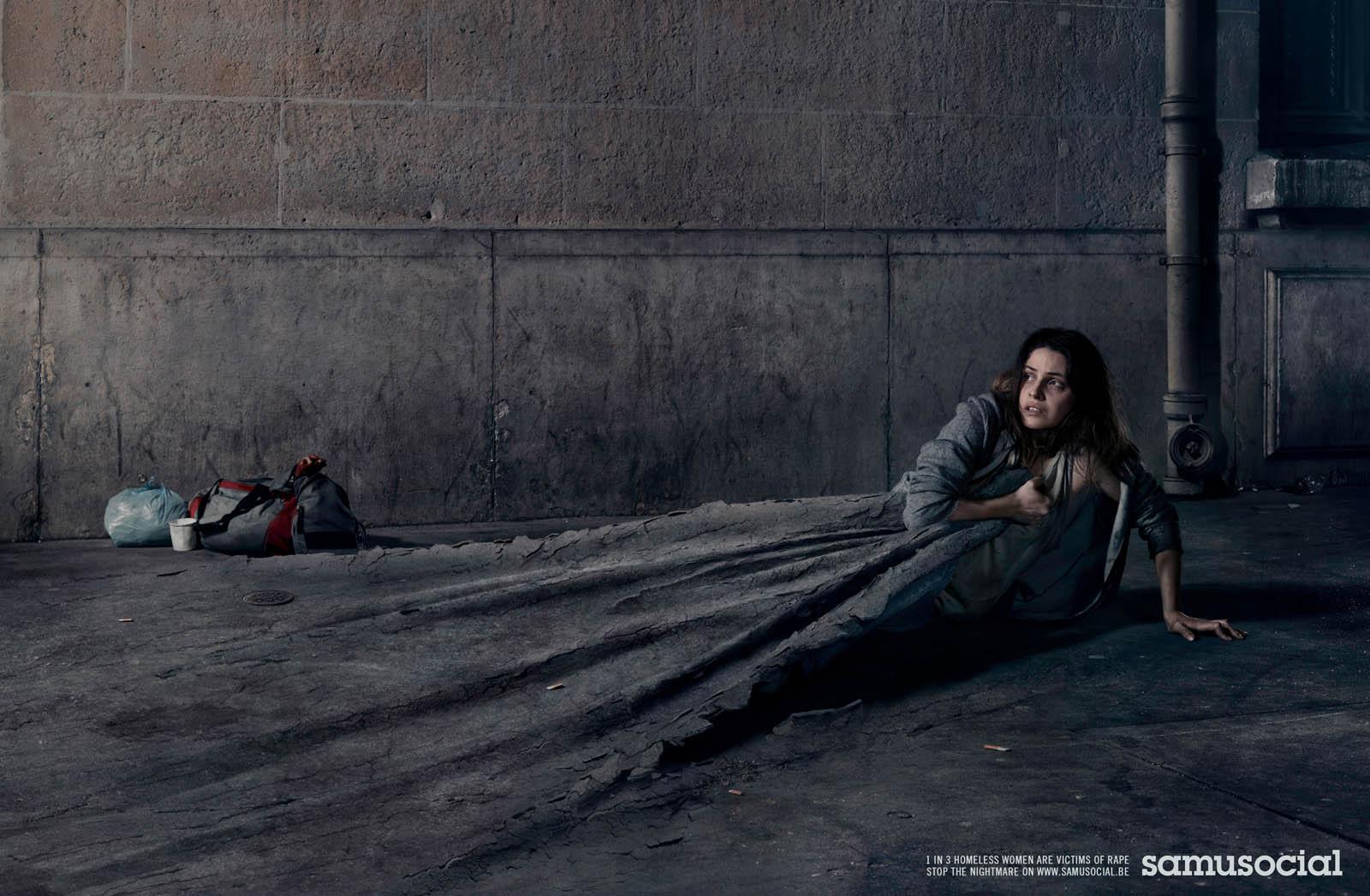 llllitl-samu-social-rape-viol-femme-women-sans-abri-homeless-clochard-bum-publicité-print-advertising-publicis-conseil-paris-france-mai-2012