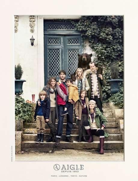 llllitl-aigle-bottes-vêtements--fashion-outlet-ours-publicité-print-photo-de-famille-betc-euro-rscg-septembre-2012
