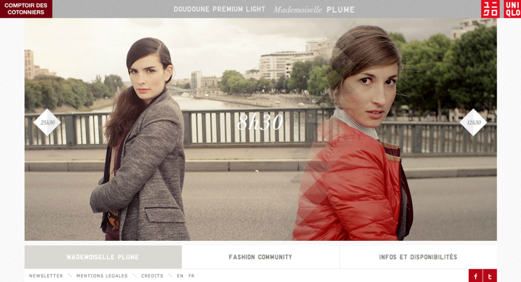llllitl-comptoir-des-cotonniers-uniqlo-website-digital-site-web-interactif-publicité-doudounes-à-plumes-mademoiselle-plume-buzzman-septembre-2012
