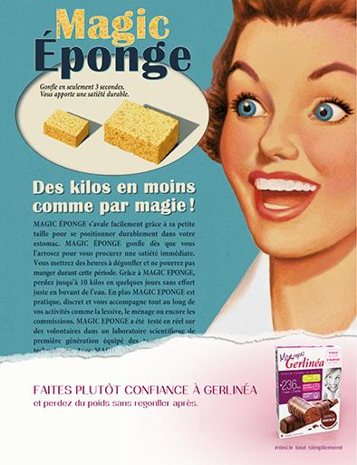 llllitl-gerlinea-mincir-tout-simplement-régime-simple-facile-perdre-du-poids-rapidement-alimentation-publicité-marketing-print-rétro-agence-ddb-paris