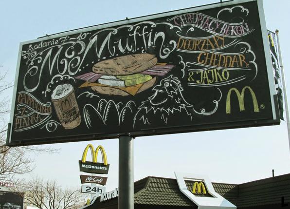 llllitl-mcdonalds-warswaw-poland-varsovie-pologne-advertising-marketing-publicité-street-art-billboard-chalkboard-ardoise-menu-Agency-DDB-Warsaw-Artist-Stefan Szwed-Stronzynski-Art-studio-Good-Looking-Production-Krewcy-Krawcy-Productions