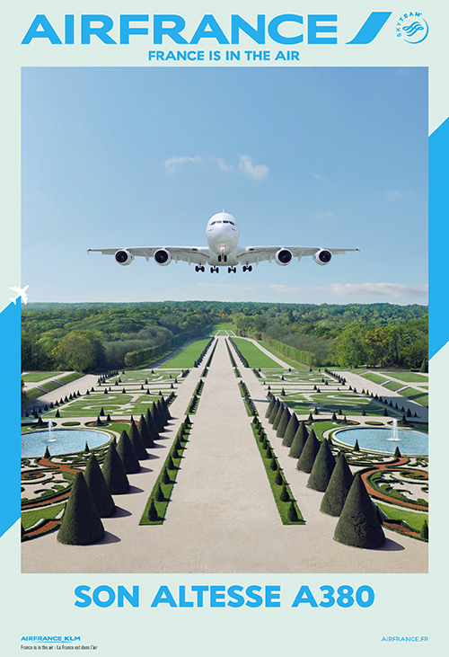air-france-publicité-affiche-print-marketing-2014-france-is-in-the-air-paris-versailles-A380-new-york-sky-priority-brésil-dakar-agence-betc-5