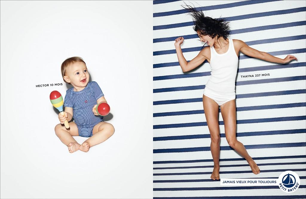 petit-bateau-publicité-marketing-marinière-rayures-bébé-adulte-avant-après-jamais-vieux-pour-toujours-agence-betc-3