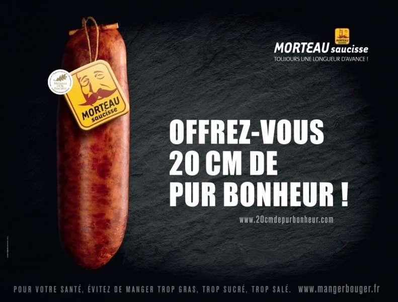 saucisse-morteau-publicité-affiche-marketing-viral-buzz-20-centimetres-de-bonheur-longueur-avance-agence-d'artagnan-paris-métro