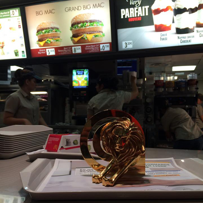cannes-lions-2014-photos-publicité-festival-mcdonalds-fast-food-burger-gold-lion-prix-mcdo-cannes