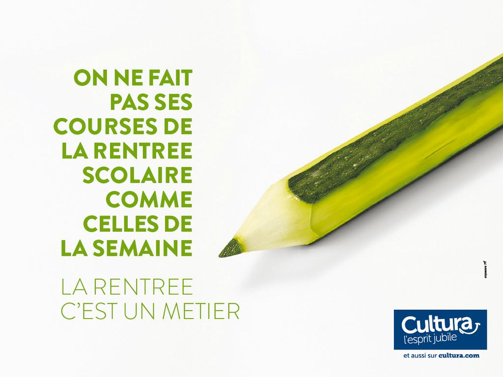 cultura-publicité-marketing-rentrée-scolaire-2014-2015-matériel-scolaire-ingrédients-alimentaires-agence-st-johns-2