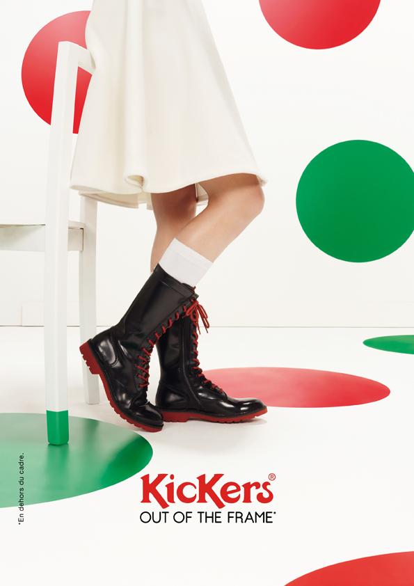 kickers-publicité-marketing-affiches-prints-rouge-vert-chaussures-homme-femme-enfant-out-of-the-frame-agence-la-chose-paris-5