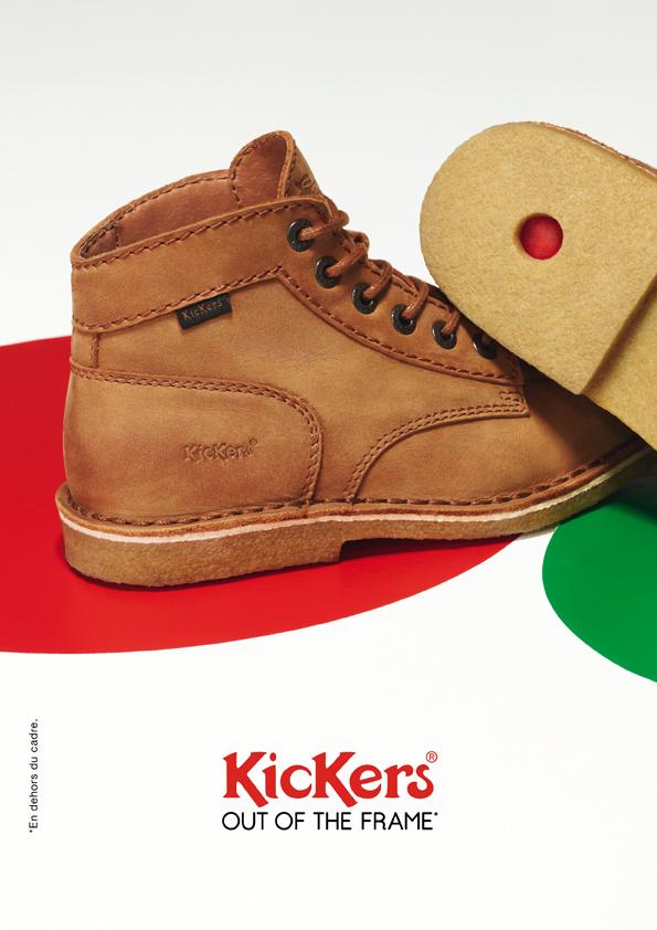 kickers-publicité-marketing-affiches-prints-rouge-vert-chaussures-homme-femme-enfant-out-of-the-frame-agence-la-chose-paris-7