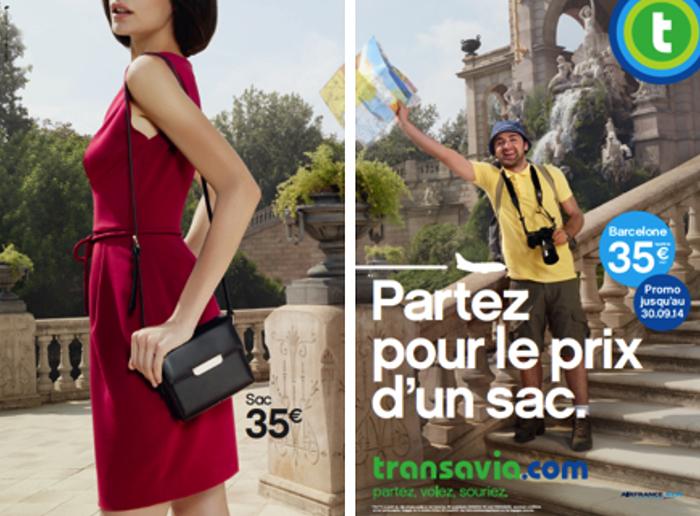 transavia-publicité-marketing-print-affiche-promotion-partez-pour-le-prix-sac-bikini-mode-touristes-agence-les-gaulois-havas-1
