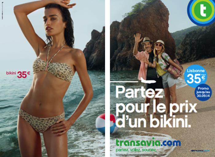 transavia-publicité-marketing-print-affiche-promotion-partez-pour-le-prix-sac-bikini-mode-touristes-agence-les-gaulois-havas-2
