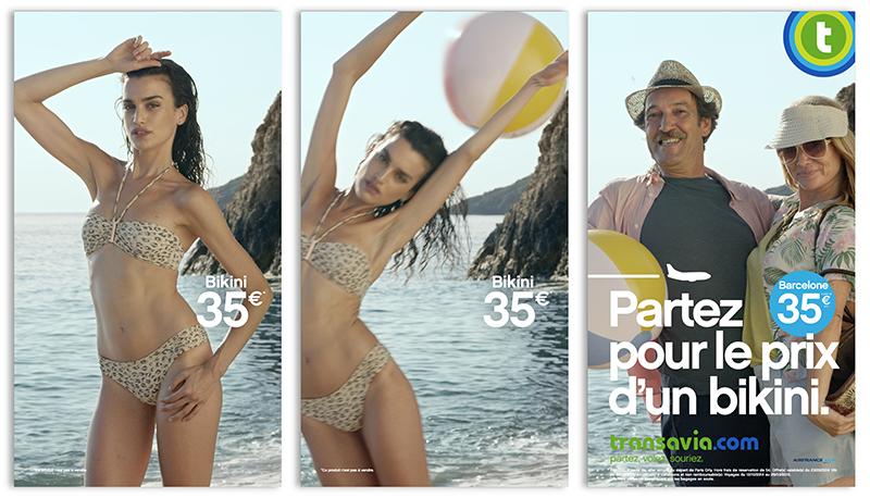 transavia-publicité-marketing-print-affiche-promotion-partez-pour-le-prix-sac-bikini-mode-touristes-agence-les-gaulois-havas-5