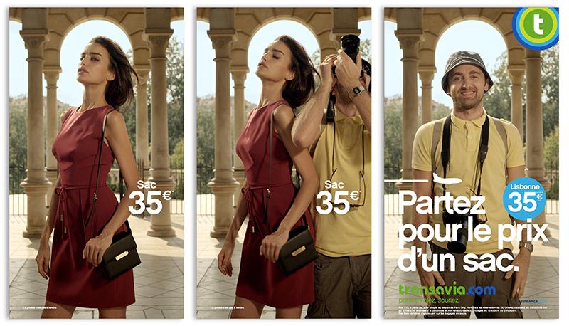 transavia-publicité-marketing-print-affiche-promotion-partez-pour-le-prix-sac-bikini-mode-touristes-agence-les-gaulois-havas-6