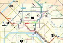 Paris : carte de métro des agences de publicité