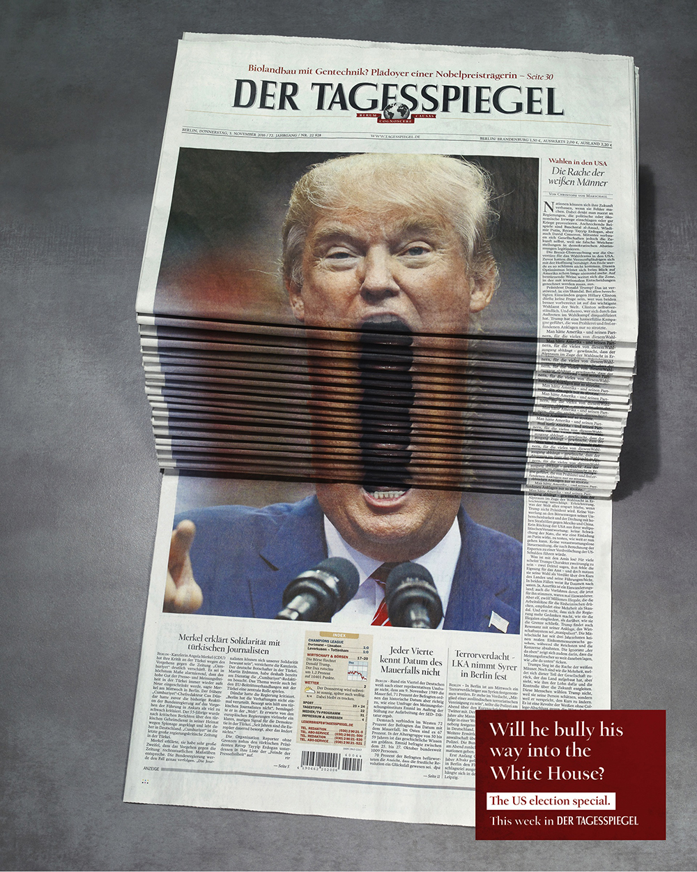 der-tagesspiegel-donald-trump-us-elections-white-house-creative-journal-cover-scholz-friends-agency