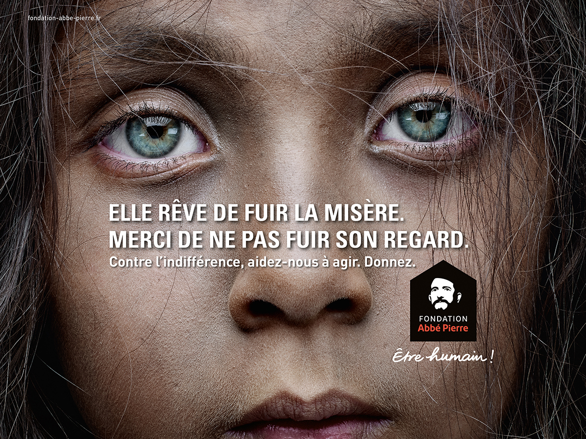 fondation-abbe-pierre-publicite-marketing-indiference-fuir-regard-yeux-altmann-pacreau-1